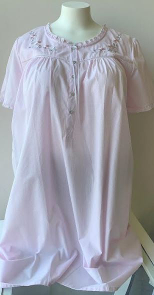 SCHRANK 4781XS239 COTTON SLEEVED NIGHTIE