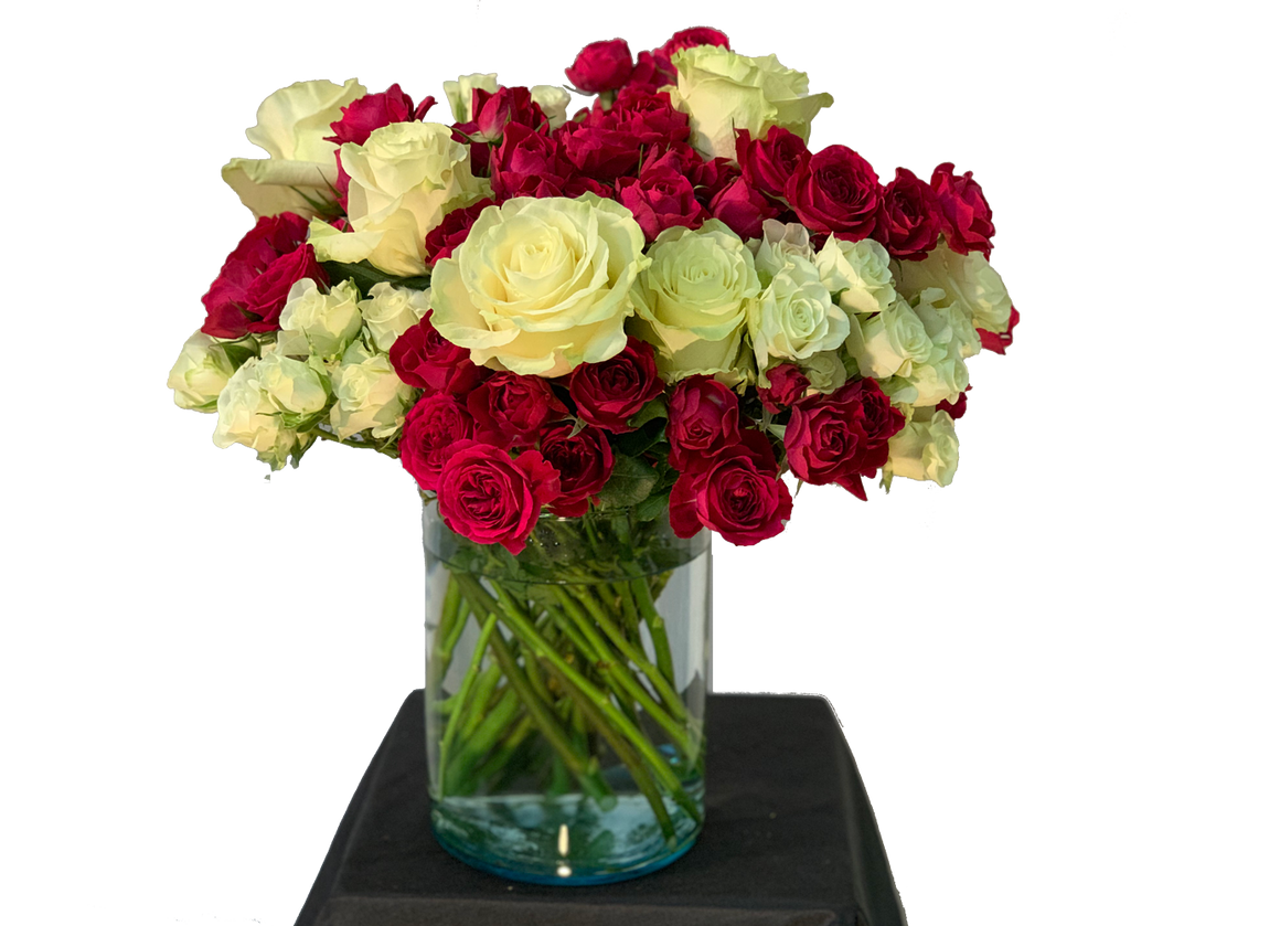 Mixed Roses Flowers - Johnathan Andrew Sage, Inc. - Houston Florist