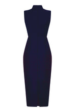 High Neck Midi in Royal Navy Indigo