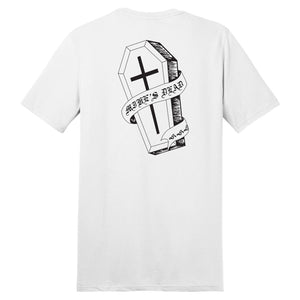 Mike's Dead Coffin Tee (White)