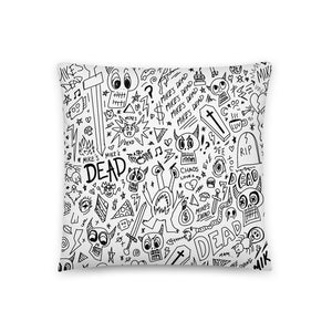 All Over Print Pillow (White)