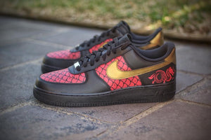Dragon ' Scaled Beauties' Air Force 1's - Khameleon Kickz