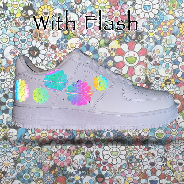 Murakami Iridescent 3M Reflective Air Force 1s