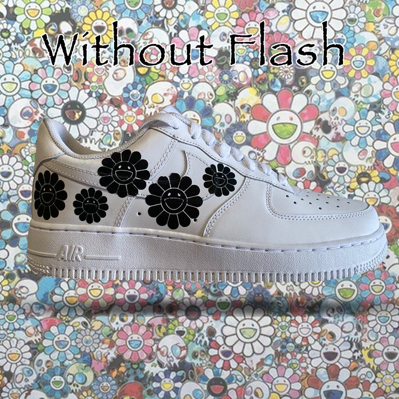 Murakami Iridescent 3M Reflective Air Force 1s - Khameleon Kickz