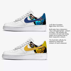 Scorpion & Sub Zero Air Force 1 - Khameleon Kickz