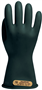 "Class 00, 500VAC, Black, 11"" length, Straight Cuff Electrical Insulating Rubber Gloves"