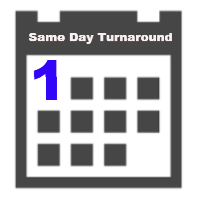 Additional Service - Same Day Turnaround