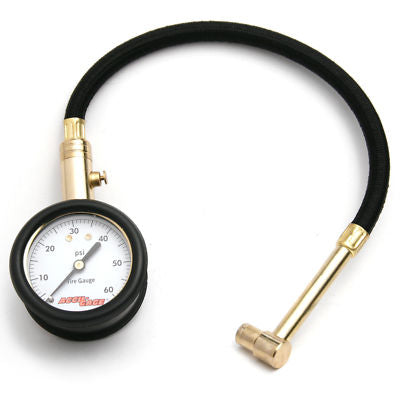 "Accu-Gage Air Pressure Gauge w/11"" Hose & Protective Cover"