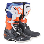Alpinestars Tech 10 Cool Gray/Orange/Flo Blue/White Boot