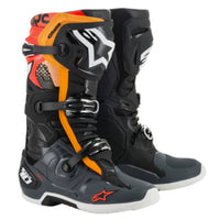 Alpinestars Tech 10 Black/Gray/Orange/Red Flo Boot