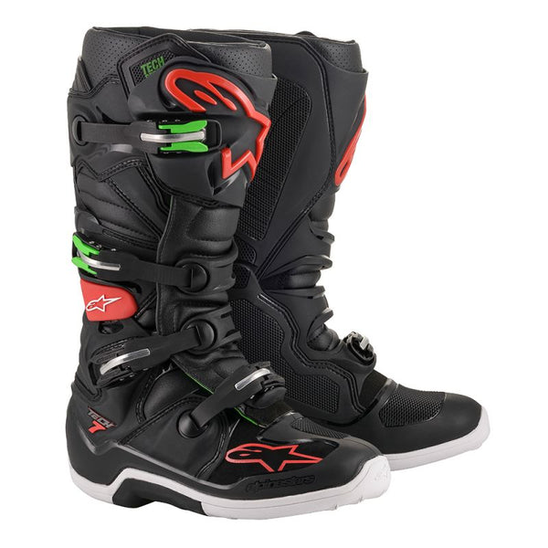 Alpinestars Tech 7 Black/Red/Green Boot