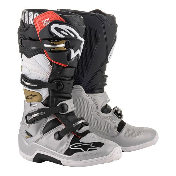 Alpinestars Tech 7 Black/Silver/White/Gold Boot