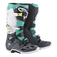 Alpinestars Tech 7 Dark Gray/Teal/White Boot