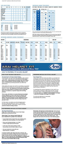 Arai - How to properly fit a helmet - Part 1