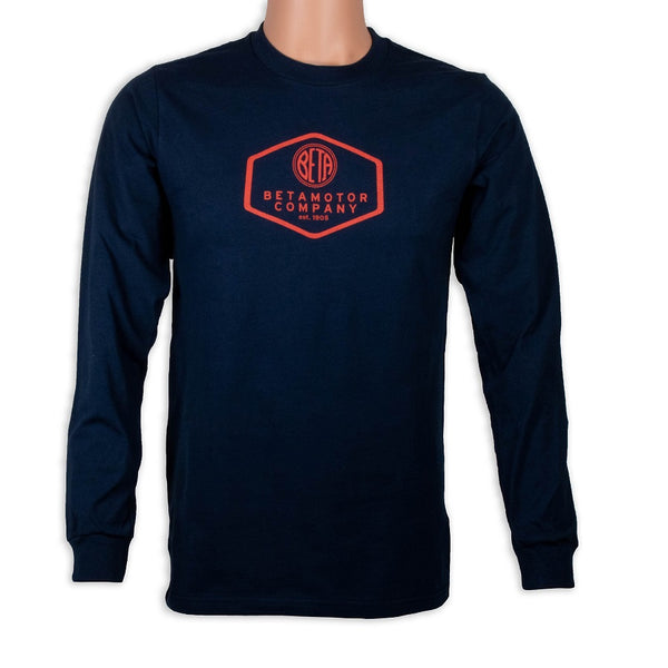 Beta Motor Long Sleeve T-Shirt Navy