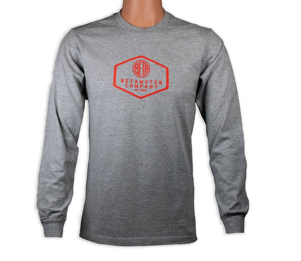 Beta Motor Long Sleeve T-Shirt Grey