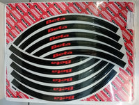 Beta Rim Decal Set Black