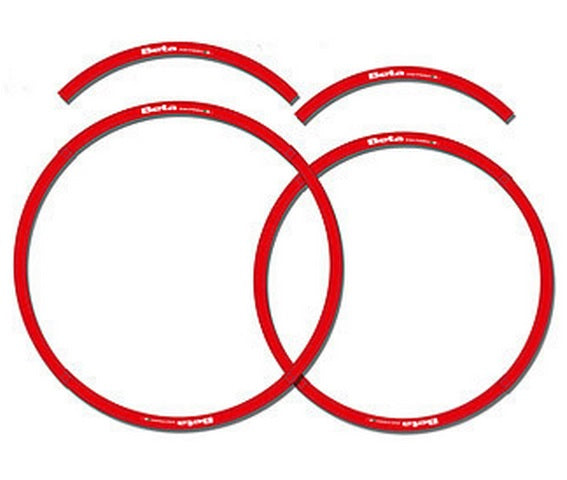 Beta Rim Decal Set Red