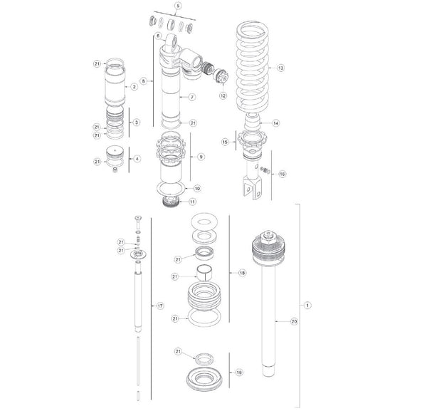 Beta XTrainer (16-) Shock Gasket Kit
