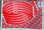 Boano Beta Racing Rim Decal Set Red