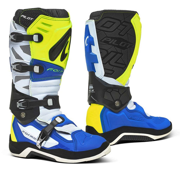 Forma Pilot White/Blue Boots