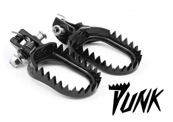 S3 Beta (20-) Punk Steel Footpegs Black