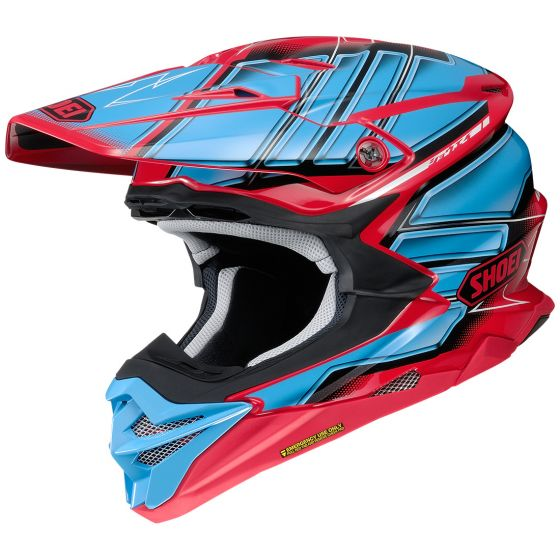 Shoei VFX-Evo Glaive Blue-Red Helmet