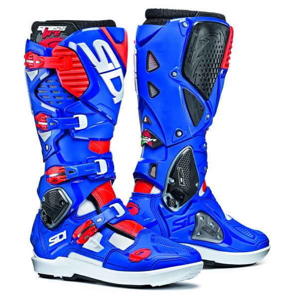 Sidi Crossfire 3 SR White/Blue/Flo Red Boot