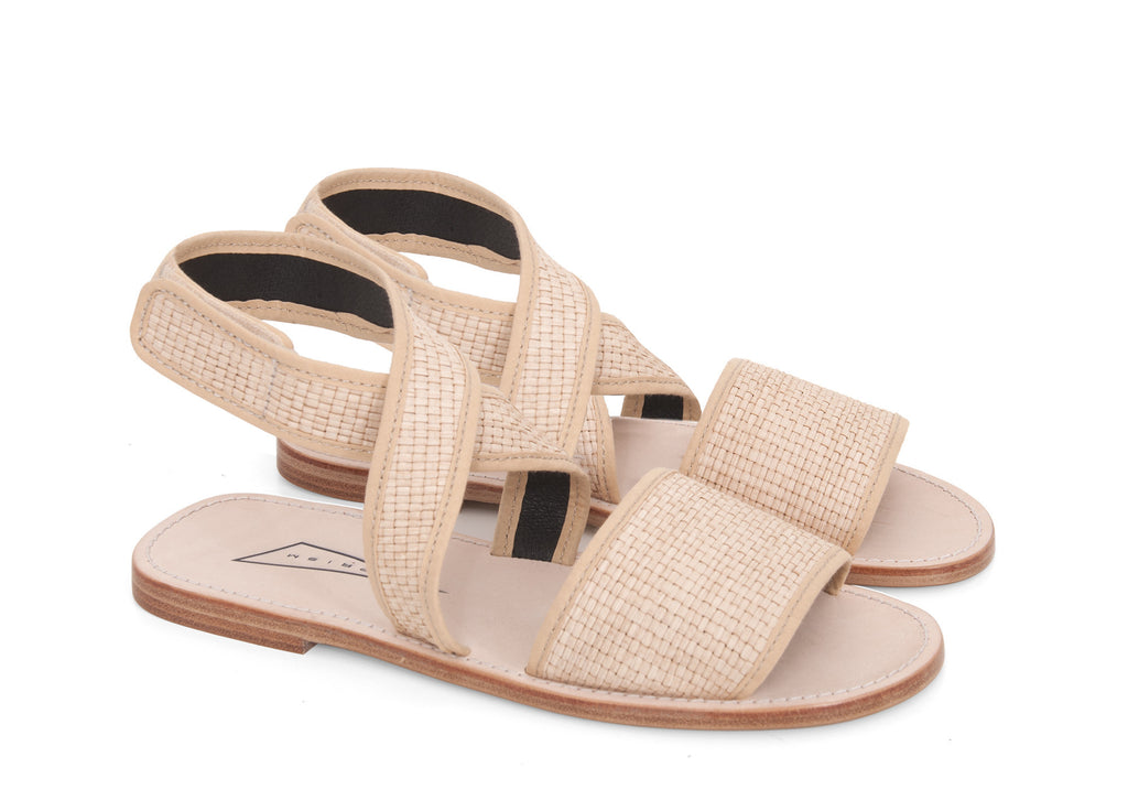 Raffia leather [Beige]