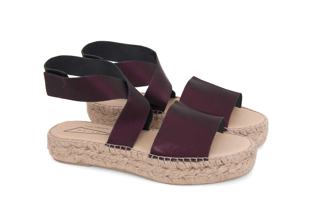 Black Purple Irridescence Sandals