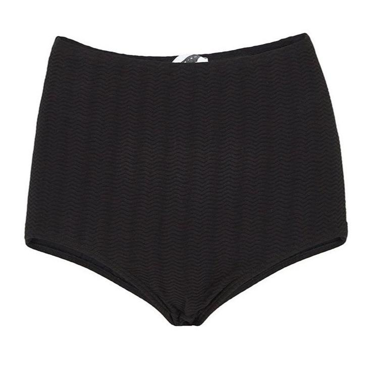 Black Waves Bikini Bottom