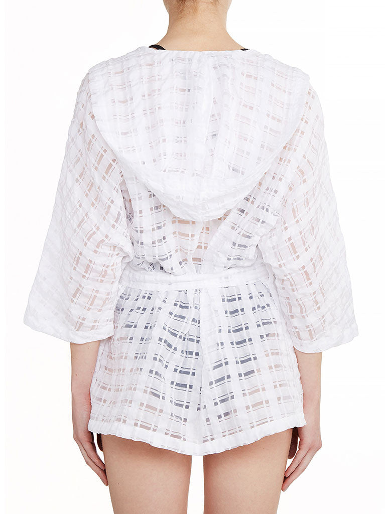 White Check Organza