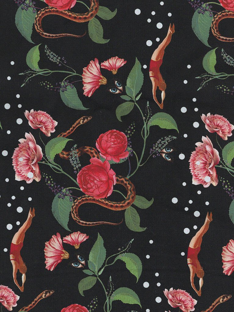Serpent Rose Print