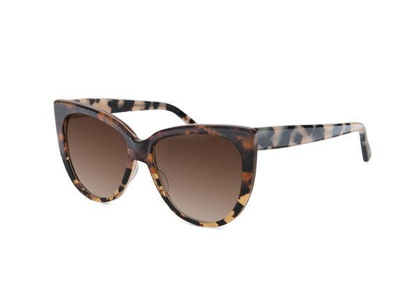 Amber tortoiseshell with cream tortoiseshell temple [Brown]