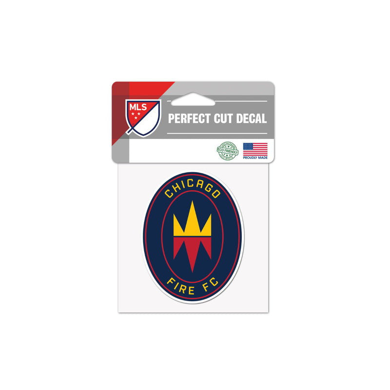 "Chicago Fire FC 4""x4"" Decal"