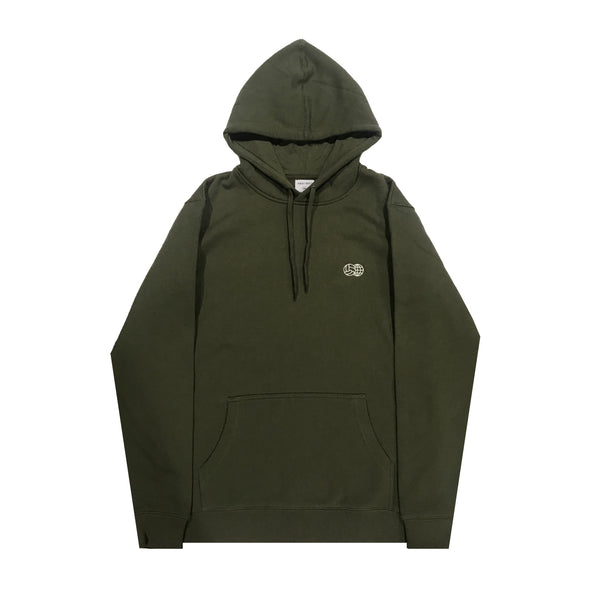 Embroidered Hoodie Army Green