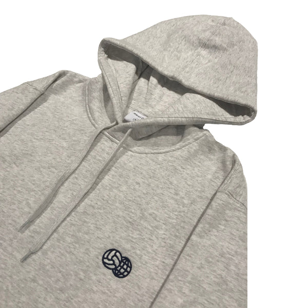 Embroidered Hoodie Heather Grey