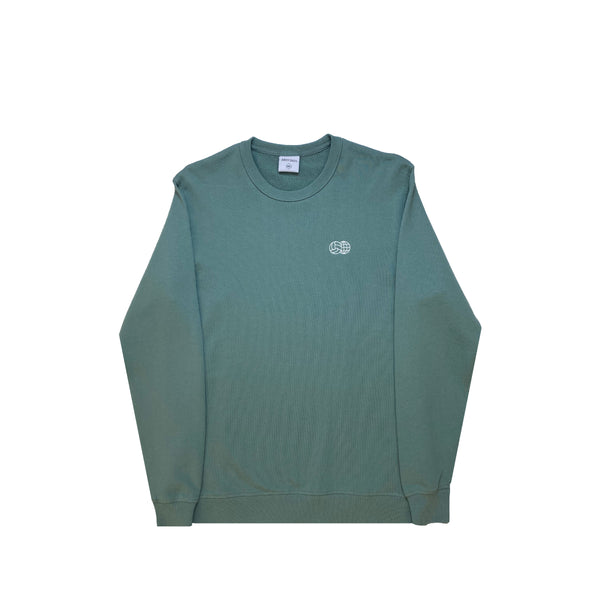 Embroidered French Terry Crewneck Green