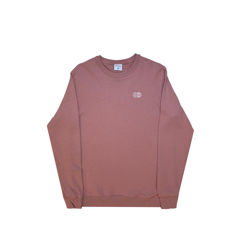 Embroidered French Terry Crewneck Pink