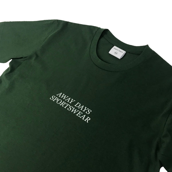 Away Days Sportswear T-Shirt Forest Green
