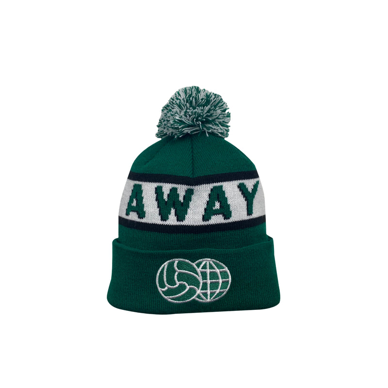Away Pom Knit Beanie Green