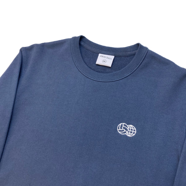 Embroidered French Terry Crewneck Blue