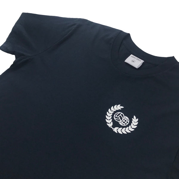 Wreath Logo T-Shirt Navy