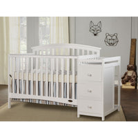Dream On Me Niko 5-in-1 Convertible Crib with Changer - bestnurseryfurniture.com