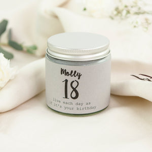 18th Birthday Scented Candle