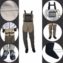 Load image into Gallery viewer, Fishing Waterproof Breathable Waders