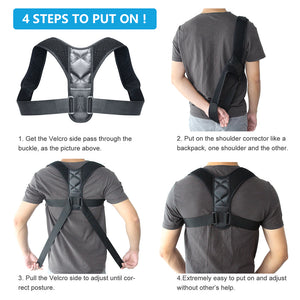 Body Wellness Posture Corrector and Brace (Fits Men & Women)