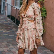 Princessa Floral Print Mini Dress