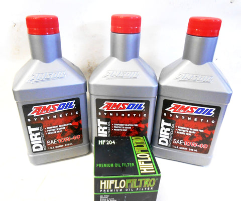 Engine Oil & Filter Change Kit (Amsoil / Hiflo) 2016-2019 Yamaha YXZ 1000R