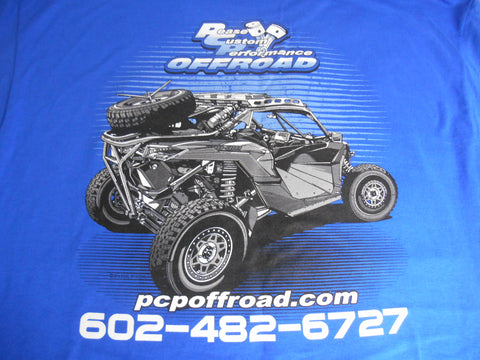 PCP Offroad Shop T-Shirt, Short Sleeve, Blue